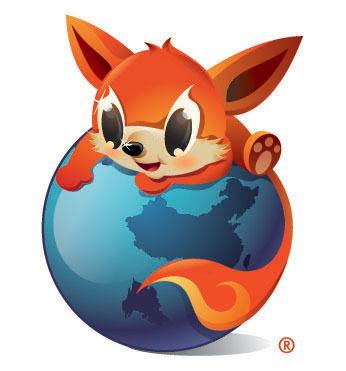 The Chinese official version of Firefox uses this logo.