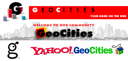 GeoCities logos over the years